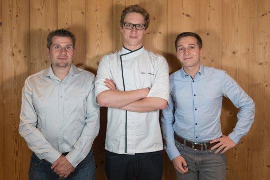 Servoz, France: L'équipe : Valéry, Brieuc et Thomas