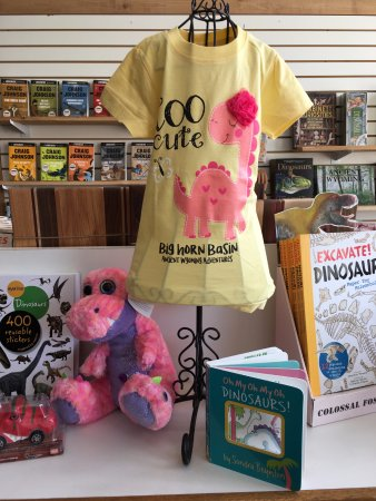 Greybull, WY: Stuffed Animals, Dino T-shirts for young and old, books, stickers and toys