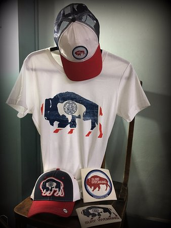 Greybull, Вайоминг: Surf Wyoming T-Shirts, hats and Stickers available @ Jurassic Cowboy!