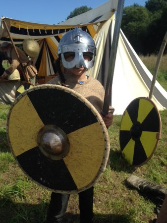 Hartlebury, UK: My son as a Viking Warrior