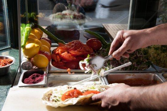 d ner with fresh salat picture of hasir restaurant berlin tripadvisor. Black Bedroom Furniture Sets. Home Design Ideas