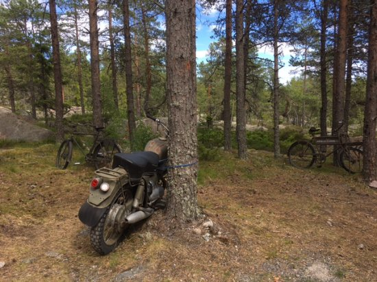 Härnösand, Sverige: old MC