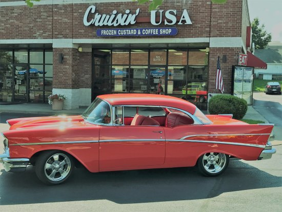 Nixa, MO: Cruisin' USA Custard & More!  Custard, burgers, hot dogs, fries, & signature sandwiches.