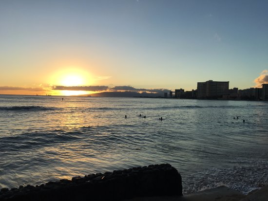 Beach In Front Of Hotel Sunset Picture Of Waikiki Beach