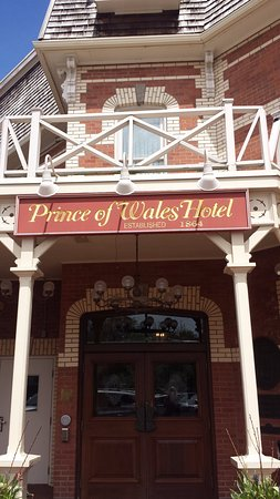 Prince of Wales: One of the entrances to the hotel