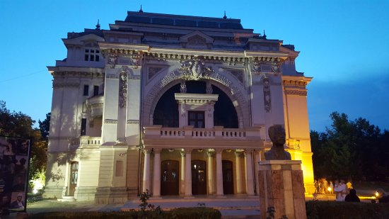 The theater from Focsani before sunset