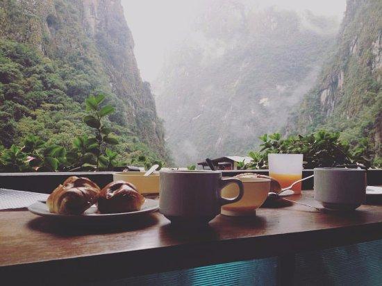Ecopackers Machupicchu: Momento em que me encontrava tomando café da manhã.