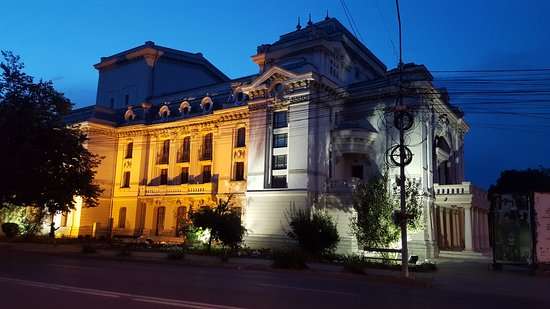 Focsani, Rumania: The beautiful theater from the city of the union