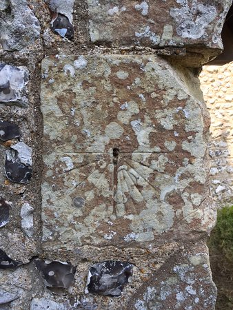 13th Century sundial at St Michael the Archangel, Litlington
