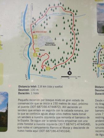 Hecho, İspanya: Ruta corta por la Selva de Oza