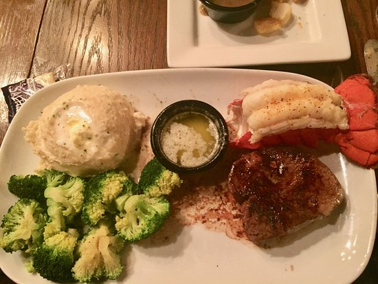 Cornelia, GA: 6oz fillet steak with lobster tail.