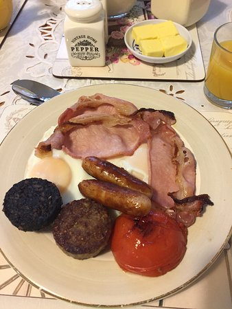 Glin, Irlandia: A full Irish breakfast - delicious!!