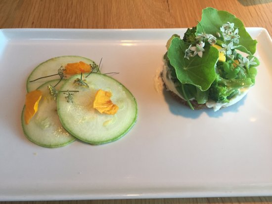 Chetek, WI: Vegetable tartine; nasturtium pesto was insanely good, wanted to lick the plate