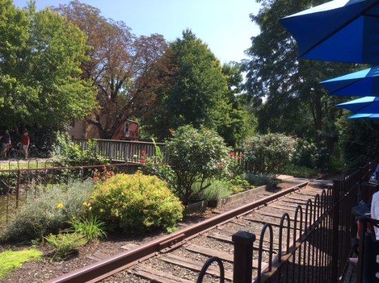 Lambertville, Νιού Τζέρσεϊ: The abandoned railroad tracks