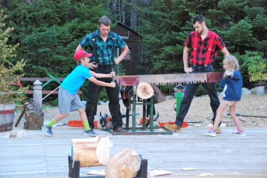 Ellsworth, ME: Kids learning to cross-cut saw
