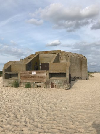 Poverty Beach: Bunker at the beach