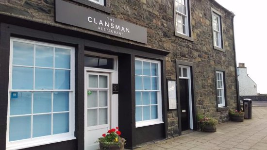 Port William, UK: Outside of Clansman.