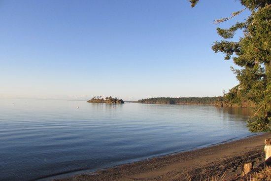 Beach Haven Resort: Looking northwest from the cabin deck
