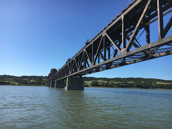 A very cool bridge we saw from the water while fishing for Chamberlain sd fishing report
