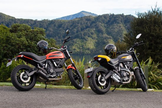 Blenheim, New Zealand: Ducati Scramblers around the sounds