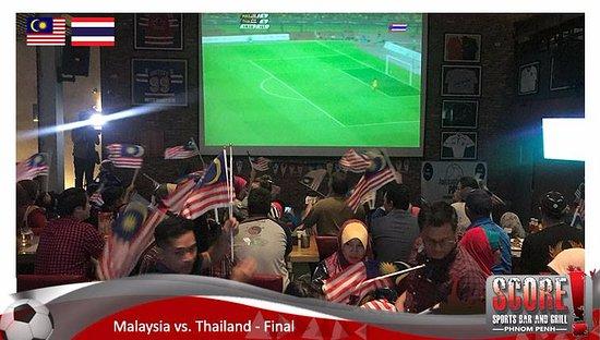 Score Sports Bar & Grill Phnom Penh: SEA Games Final - Malaysia vs. Thailand 2017