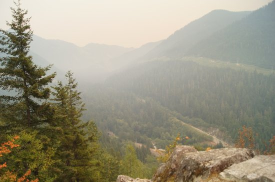 Skykomish, Вашингтон: View from Windy Point Aug 29