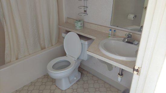 ووترفرونت إن - ماكيناو سيتي: Outdated bathroom.