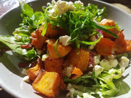 Nabiac, Australia: Oven Roasted Pumpkin and Fetta salad