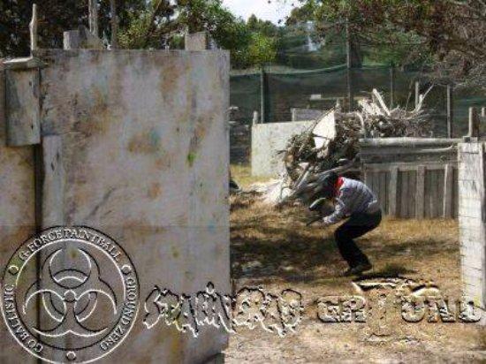 Me Ducking Picture Of Ground Zero Paintball Cape Town Tripadvisor
