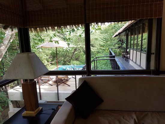 Uga Ulagalla: View of Private Plunge Pool with Jacoozi from living area