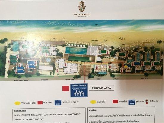 Villa Maroc: Hotel layout.