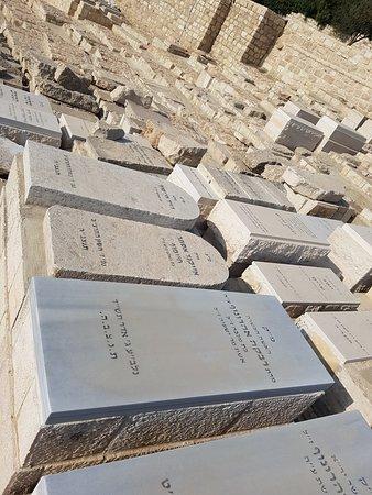 Cimetière juif du Mont des Oliviers : 감람산에 있는 무덤 모습