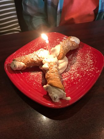 Vienna, WV: Complimentary birthday chocolate chip cannoli