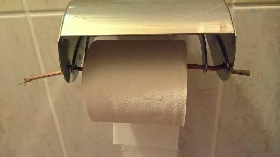 Saillagouse, Francja: papier wc tenu par une brindille. pas digne d'un 3*