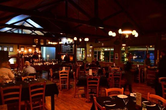 Great Brak River, Sydafrika: Inside the restaurant