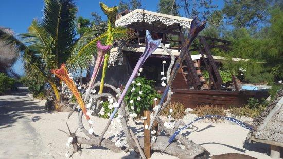 Moorea, Frans-Polynesië: deco sur le site