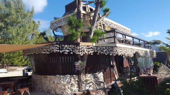 Moorea, Frans-Polynesië: bateau bar lagoonarium