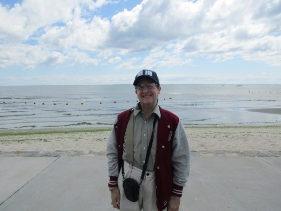 Hog Wild Smokin'Cue: myself standing in front of the beach