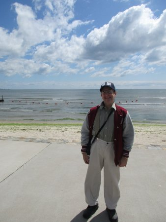 Westbrook, CT: myself in front of the beach