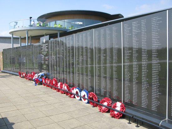 Capel-le-Ferne, UK: The wall of rememberance, including so many foreign nationals, all of whom gave their lives.