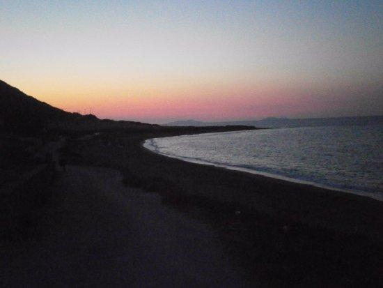 Molos Beach: Couché de soleil #molos #beach