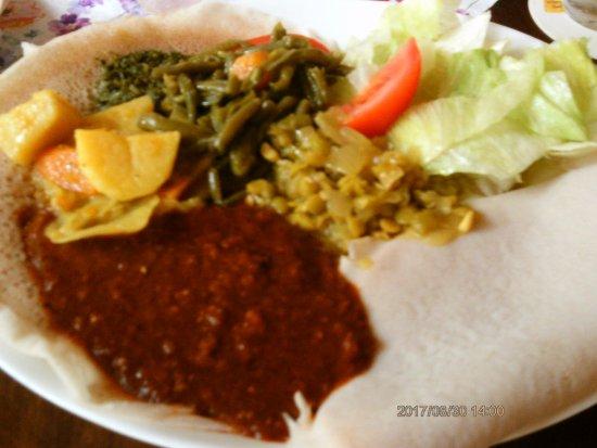 Lalibela: Vegetarische Auswahl, wunderbar. .