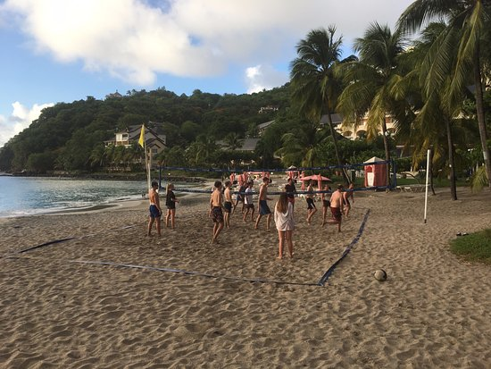 Cap Estate, St. Lucia: Daily beach volleyball