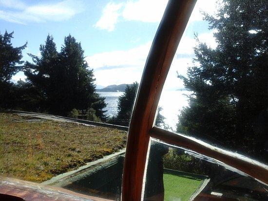 Cabanas La Deseada: Esta es la vista desde cocina comedor....
