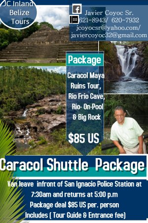 Package(Maya temple, & M.P.R. Sites) Tour to largest Maya Temple in Belize from San Ignacio Town