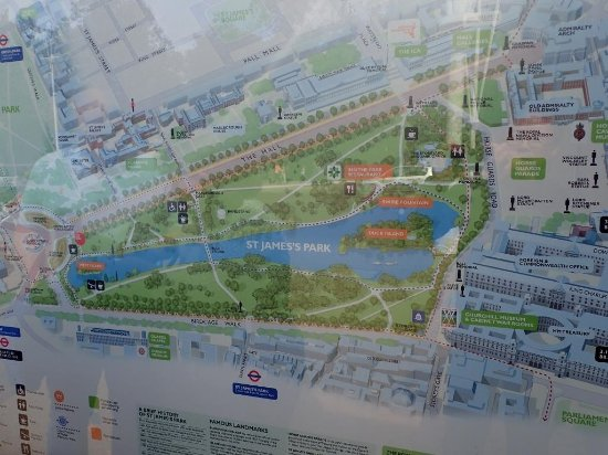 Map of the Park Picture of St Jamess Park London TripAdvisor