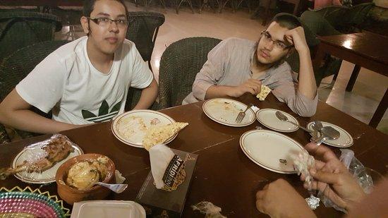 Port Grand: Haris and Huzaifa waiting for more dishes.