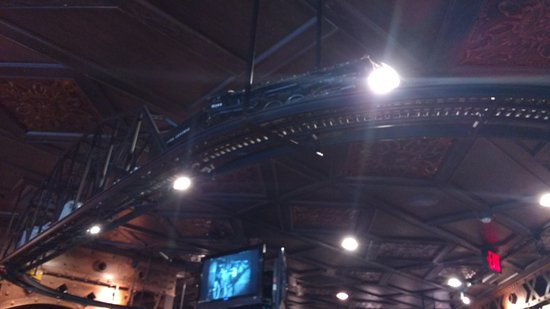 Industrial Revolution Eatery & Grille: Ceiling Train Industrial Revolution