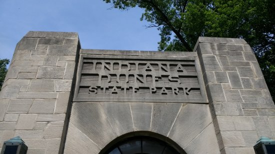 Chesterton, Ιντιάνα: Entrance to Indiana Dunes State Park