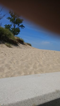 Chesterton, Ιντιάνα: Glimpse of dunes Indiana Dunes State Park